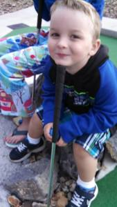My little cousin got to go put put golfing every night he was at my G-ma's-- as a result, the workers knew him by name :)