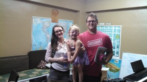 Brittany and Justin are a couple who are interning for Envision from South Dakota. They and their daughter Kennedy bring fun and life to a room, and are steady, down-to-earth friends.