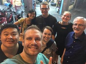 This is Sweetie with Jesse (the Taiwan Envision leader) and the Crown College missions team that was just here for 10 days this June; Sweetie is the woman on the left in the back