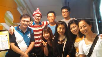"For Coffee Talk last Friday, we played a life-sized version of ""Where's Waldo"" in the Ximen shopping district!"