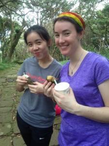 Eva and I last Sunday on Yanming Mountain