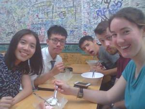 Afterwards, Eva, Alfie, Howard, Sam, and I (L>R in the picture) went to get shaved ice and talk. We prayed for each other before going our separate ways at the MRT station