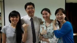 L>R: MoMo, Pastor David, me, Pastor David's wife