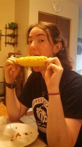 Corn on the cob is so good!!! Summertime American food :)